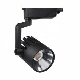 Proyector LED 30W carril monofásico 35º/70º Negro