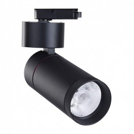 Proyector LED 30W carril monofásico 24º/60º Negro