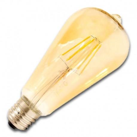 Bombilla Filamento LED E27 6W 2400K ST64 GOLDEN