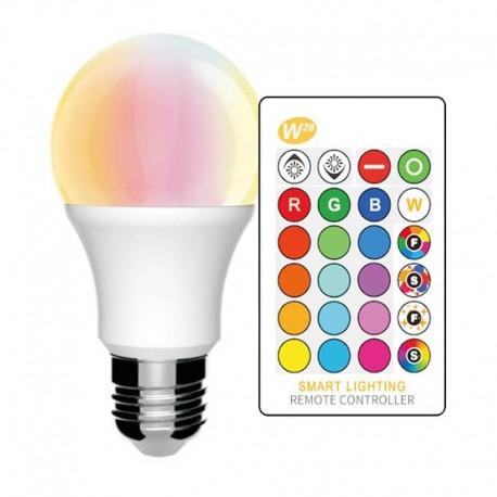 Bombilla LED E27 10W RGB+BLANCO