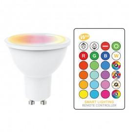Bombilla LED GU10 5W RGB+BLANCO