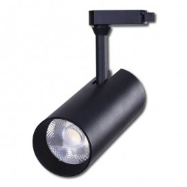 Proyector LED Negro 30W carril monofásico 24º/60º Regulable