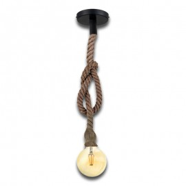 Pack Lámpara Vintage Cuerda KAMBA + Bombilla Filamento LED 8W G125