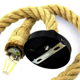 Pack Lampara Vintage Cuerda KAMBA + Bombilla Filamento LED 8W G125