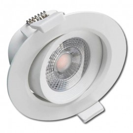 Downlight LED 7W orientable redondo blanco