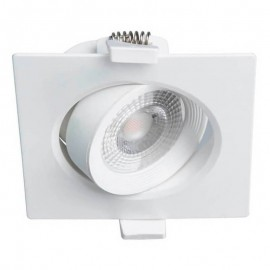 Downlight LED 7W orientable cuadrado blanco