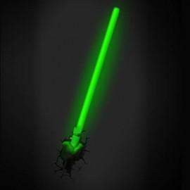 Lámpara LED 3D Espada Láser YODA
