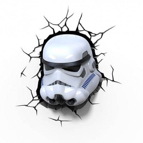 Lámpara LED 3D Stormtrooper