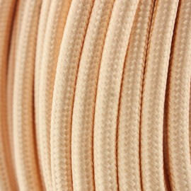 Cable Textil Vintage Dorado