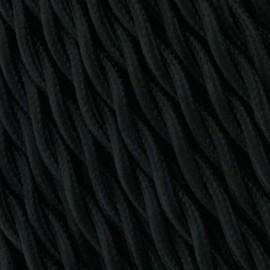 Cable Textil Vintage Trenzado Negro