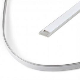 Perfil Aluminio -FLEXIBLE- para Tira LED 2 metros