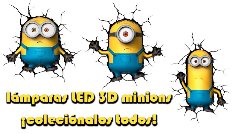 Lámparas LED 3D Deco Lights Minions