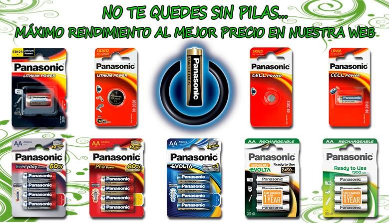 Comprar Pilas Panasonic en ForeverLED
