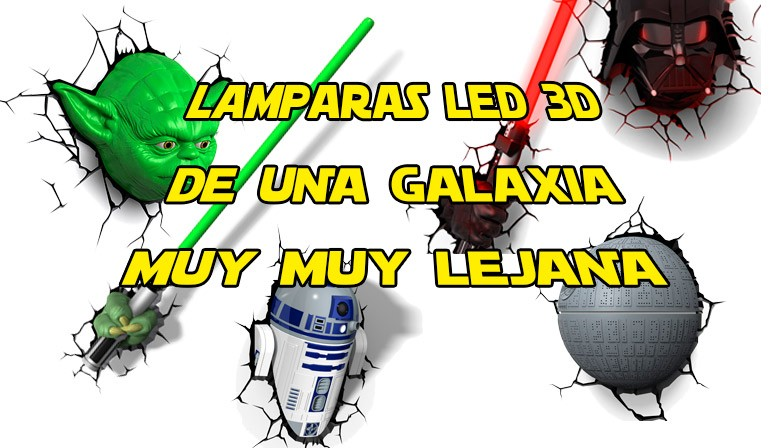 Lámparas LED 3D Deco Lights Star Wars