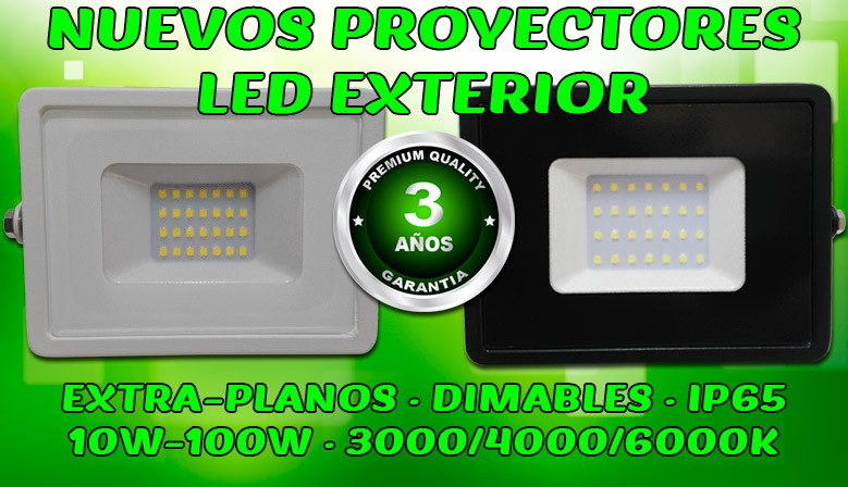 Proyectores LED exterior garantía 3 años ECO-SLIM Foreverled