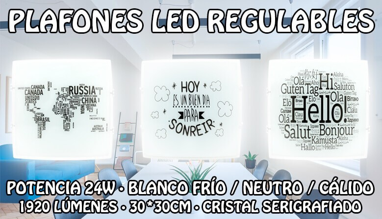 Plafones LED 24W Regulables