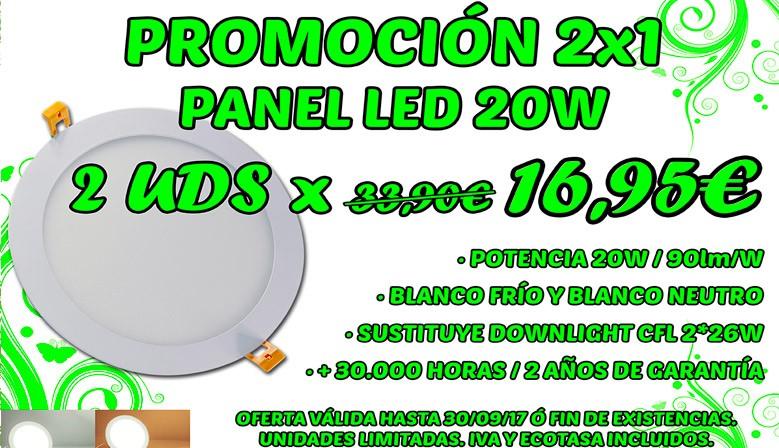 PROMO 2x1 Panel LED 20W